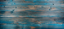 Texture Of Wood Background With Faded Blue Color