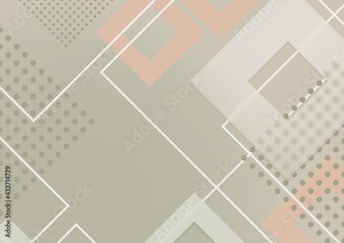 Abstrakcyjne zielone tło - geometryczne kształty z efektem szkła. Szablon z miejscem na Twój tekst, produkt, tapeta, ilustracja dla social media story, internetowe projekty, aplikacje mobilne. - fototapety na wymiar