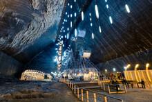 Beautiful Salt Mine In Turda, Romania