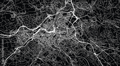 Fotografering Urban vector city map of Bern, Switzerland, Europe