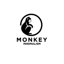 Premium Minimalism Monkey Vector Logo Icon Illustration Design Isolated Backgroundpremium Minimalism Monkey Vector Logo Icon Illustration Design Isolated Background