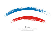 Curve Style Brush Painted Grunge Flag Of Crimea Country In Artistic Style