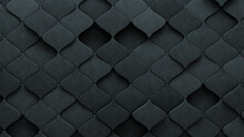 Arabesque, 3D Wall Background With Tiles. Concrete, Tile Wallpaper With Polished, Futuristic Blocks. 3D Render
