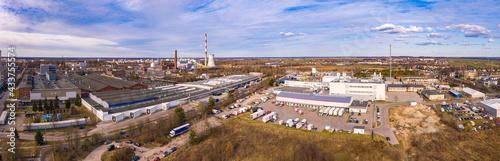 Panorama obszarów przemysłowo - usługowych, miasto Gorzów Wielkopolski - fototapety na wymiar