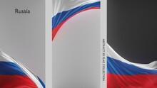 Abstract Russia Flag 3D Render (3D Artwork)