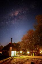 Starry Night Sky Above Skukuza Rest Camp, Kruger National Park, South Africa