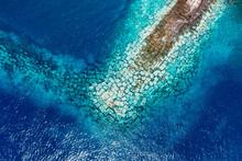 Atlantic Ocean Aerial View La Gomera Canary Island, Spain.