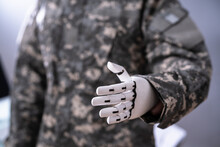 Soldier Artificial Prosthetic Limb Hand