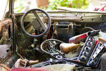 Old Rusty Car Headlight