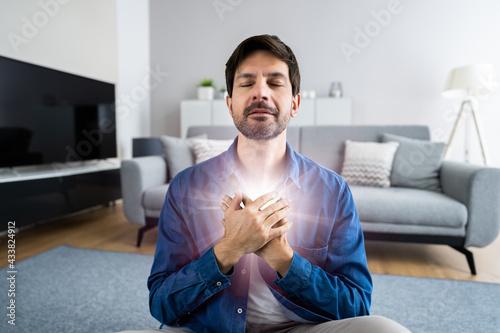 Canvas Print Psychic Hand Healing Energy Light