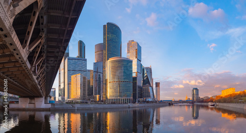 Stampa su Tela Skyscrapers in Moscow is capital of Russia