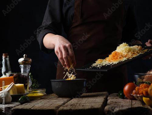 Fotografia Cooking cheese soup