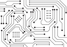 Circuit Technology Background With Hi-tech Digital Data