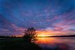 Sonnenuntergang an der Donau bei Straubing