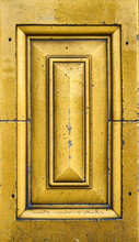 Detail Of Decorative Ceramic Tiles In Warm Yellow And Gold