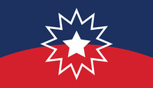 Juneteenth Flag. Since 1865. Design Of Banner. Vector.