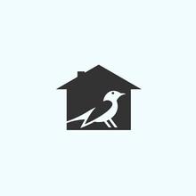 Abstract Bird Logo. House Icon