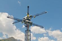 Energy Vault Tower Multi Crane Located In Switzerland