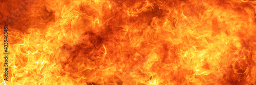 blaze fire flame conflagration texture for banner background, 3 x 1 ratio Fototapeta