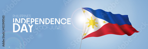 Canvastavla Philippines happy independence day greeting card, banner with template text vect
