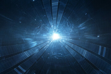 Conceptual space or time travel background