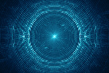 Abstract Electromagnetic Field Background, Blue Electric Energy Waves