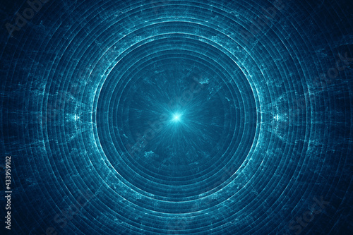 Fotografia Abstract electromagnetic field background, blue electric energy waves