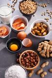 Fototapeta Kawa jest smaczna - Composition with common food allergens