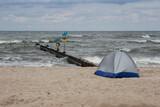 Fototapeta Fototapety z morzem do Twojej sypialni - namiot plaża morze