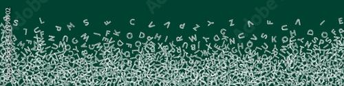Valokuva Falling letters of English language