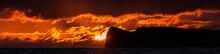 Panorama Of Sunset Over Molokini Crater, Maui, Hawaii