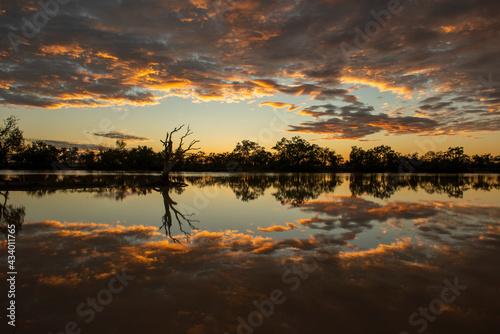 Fotomural Kyabra creek  in far outback Queensland, Australia.