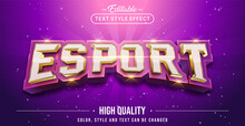 Editable Text Style Effect - E-sports Text Style Theme.