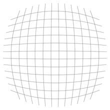 Grid, Mesh, Lattice, Grating With Distort, Deform Effect. Distortion, Deformation Array Of Lines