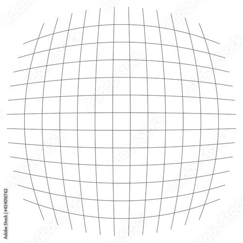 Fototapeta Grid, mesh, lattice, grating with distort, deform effect