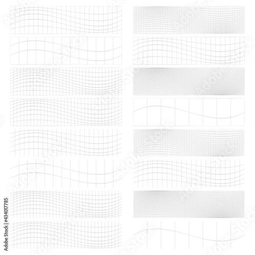 Fotografia, Obraz Set of rectangles w distort, deform effect vector illustration
