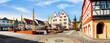 Leinwandbild Motiv Town hall and market square in Oppenheim am Rhein, Germany
