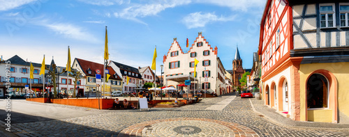 Tela Town hall and market square in Oppenheim am Rhein, Germany