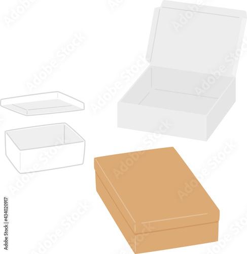 Foto いろいろな蓋付きの紙箱