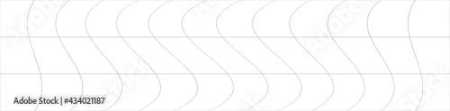Wavy, ripple, curved distort effect long, oblong irregular rectangular wire-fram Fototapete