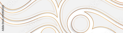 Fotografering Grey and golden wavy pattern abstract background