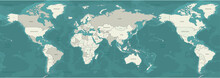 World Map Vector. Detailed Worldmap Mordern Graphic Design.