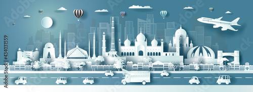 Fotografia, Obraz Travel destination landmarks Pakistan city modern and ancient architecture