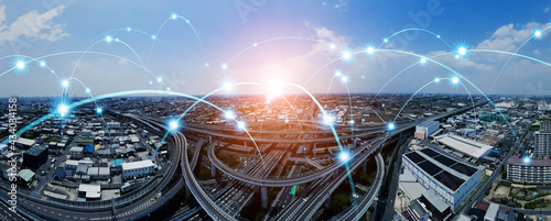 交通ネットワーク ITS MaaS - fototapety na wymiar