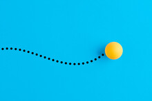 Table Tennis Ball In Motion.