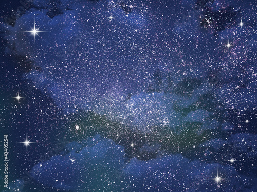 Fotografiet Night sky with stars as background