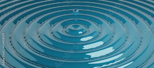 3d water drip