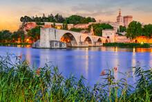 Avignon, France - Pont Avignon And Medieval Castle, Provence