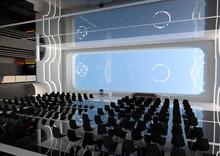 3D Rendering Science Fiction Auditorium