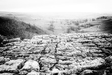 The Limestone Pavement On Top Of Malham Cove, Yorkshire